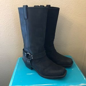 Mossimo Black Leather Harness Boots 10
